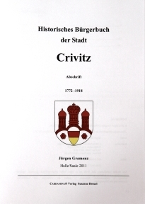 Historical Book of Citizens of the Town Crivitz front page